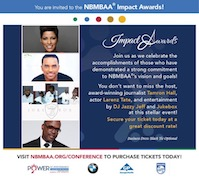 NBMBAA IMPACT Awards hosted by Tamron Hall, Larenz Tate with Jukebox & Jazzy Jeff!